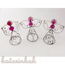 Anjelik mini-pidi 7 cm ružový achát