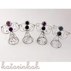 Anjelik mini-pidi 7 cm fialový achát