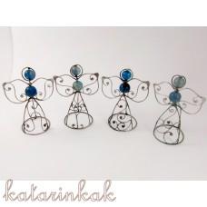 Anjelik mini-pidi 7 cm modrý achát