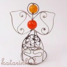 Anjelik mini-pidi 7 cm oranžový achát