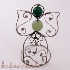Anjelik mini-pidi 7 cm zelený achát
