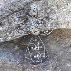 Cínovaný anjel malý - Jaspis dalmatín