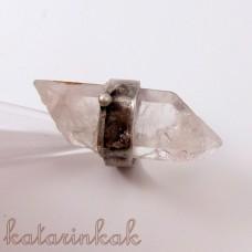 Cínovaný prsteň - Krištáľový špic