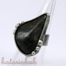 Cínovaný prsteň - Amazonit