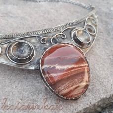 Cínovaný náhrdelník - Jaspis pásikavý
