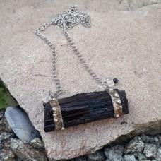 Cínovaný náhrdelník - Surový turmalín