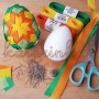 Veľkonočný patchwork - návod ako si ozdobiť vajíčko stužkami